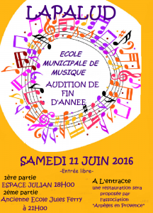 AFFICHE AUDITION DE FIN D'ANNEE