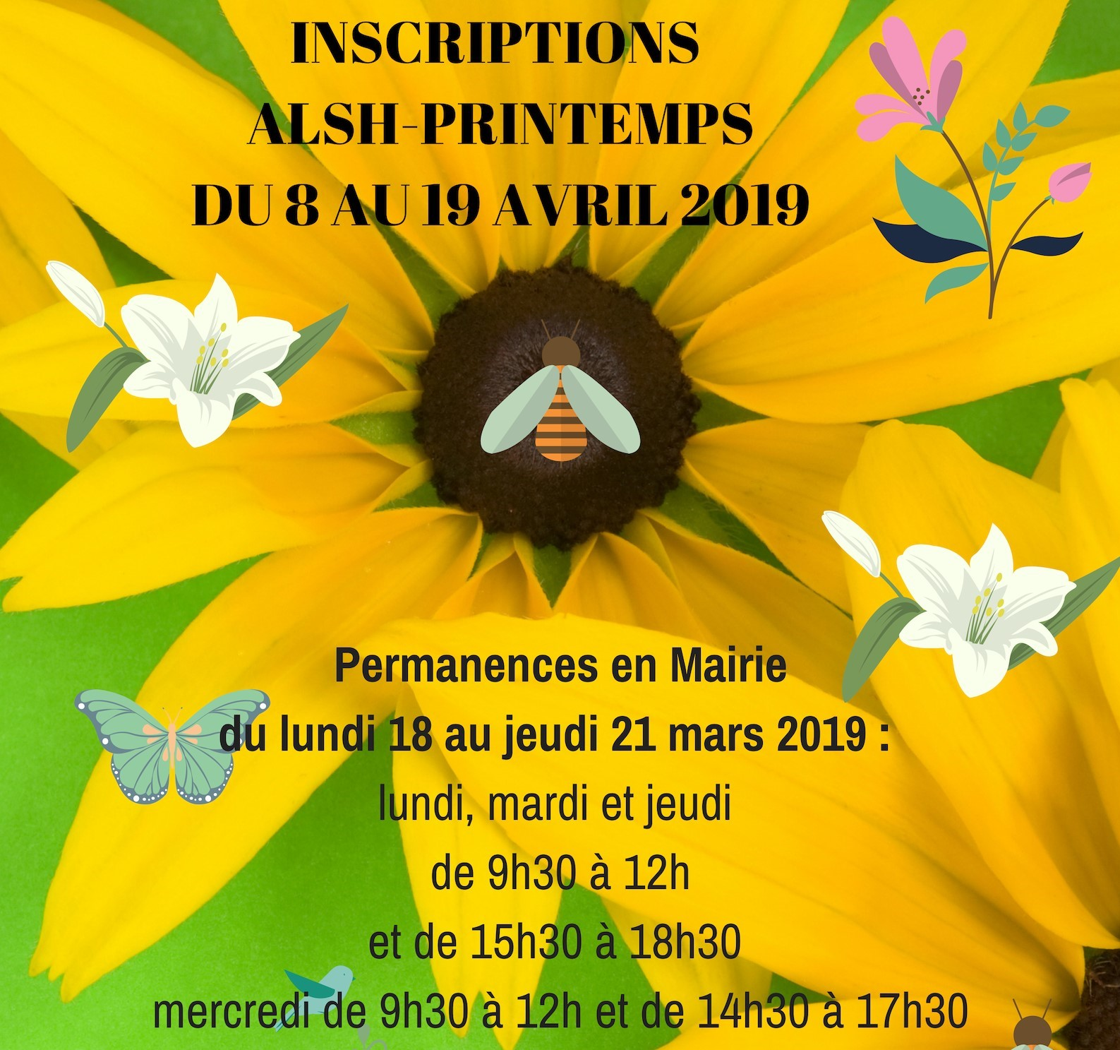 AFFICHE INSCRIPTIONS ALSH AVRIL 2019ALAUNE